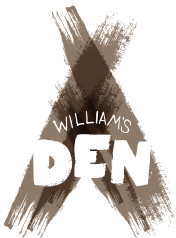 Williams Den logo - teepee