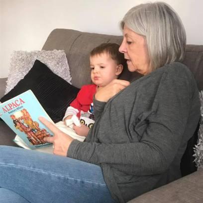 Lucas and his Non=Grandma :-)