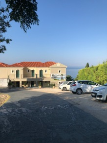 Front of Antonia Hotel Lourdas Kefalonia